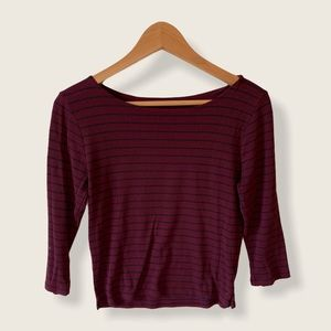 American Eagle Cropped Striped Top